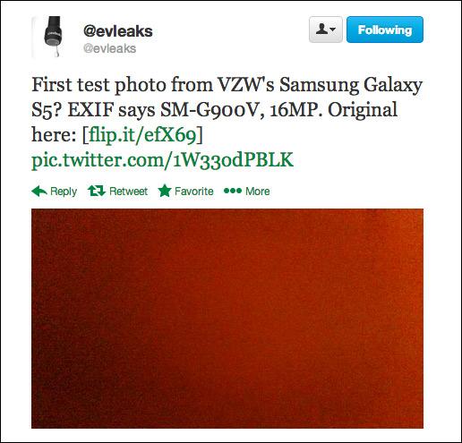 evleaks galaxy s5 camera sample