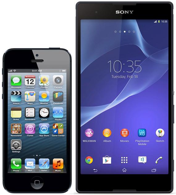 iphone 5s xperia t2 ultra