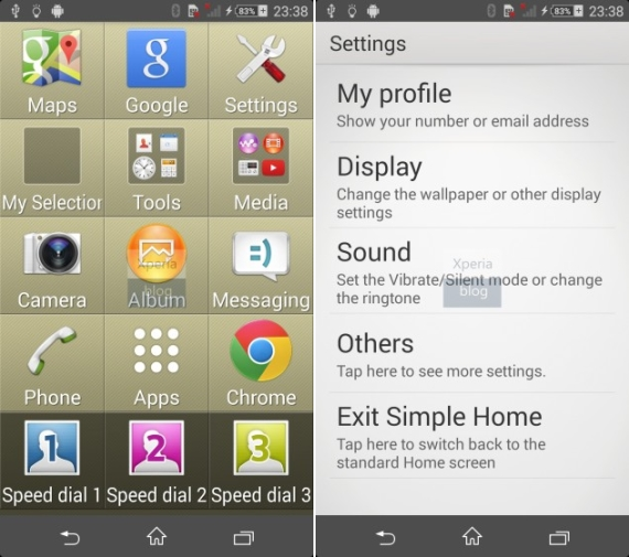 sony xperia kitkat ui simple home