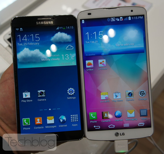 LG G Pro 2 vs Galaxy Note 3 MWC 2014