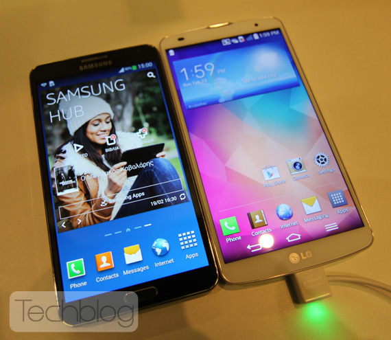 LG G Pro 2 vs Galaxy Note 3 at MWC 2014