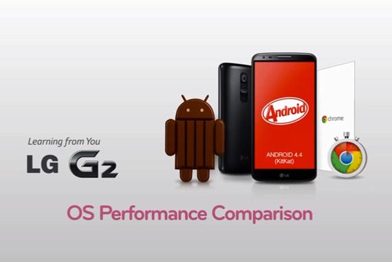LG G2 comparison OS