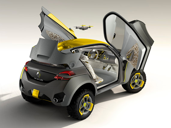 Renault KWID concept car with drone