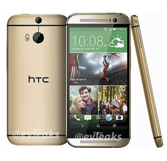 htc m8 gold color big a