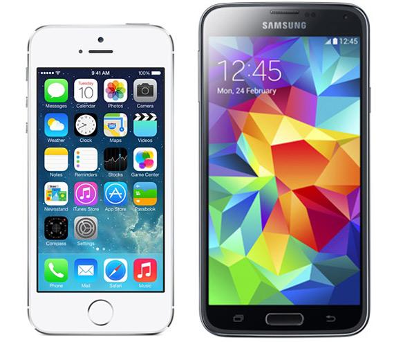 iphone5sVSgalaxys5