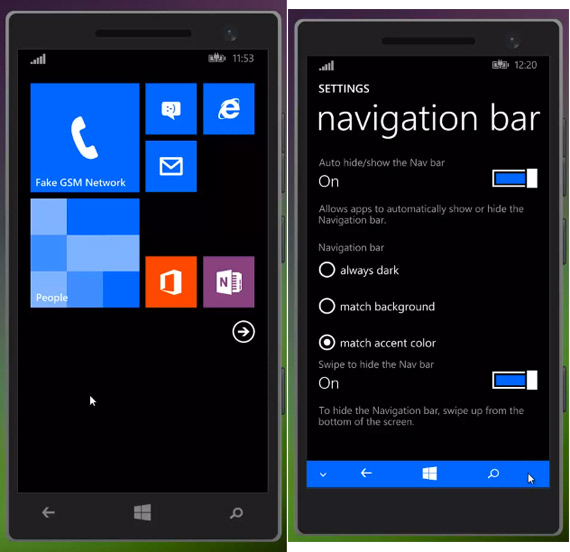 windows phone 8.1 SDK screenshots