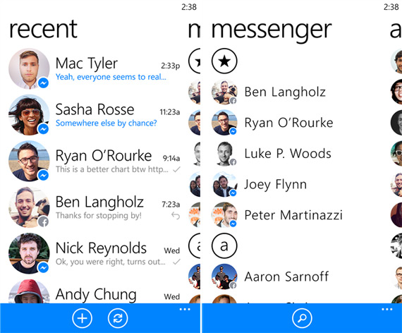 Facebook messenger windows phone app