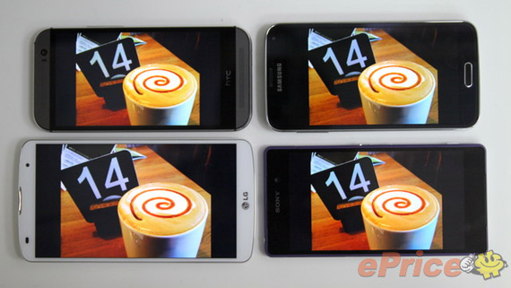 Display War: G2 Pro 2 vs One M8 vs Galaxy S5 vs Xperia Z2