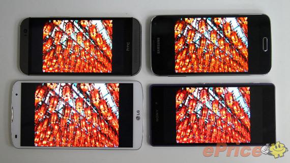 Display War: G2 Pro 2 vs One M8 vs Galaxy S5 vs Xperia Z2