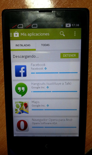 Nokia X rooted Google apps