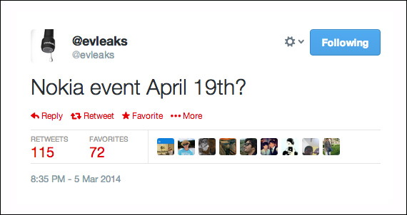 Nokia event April 19th evleaks