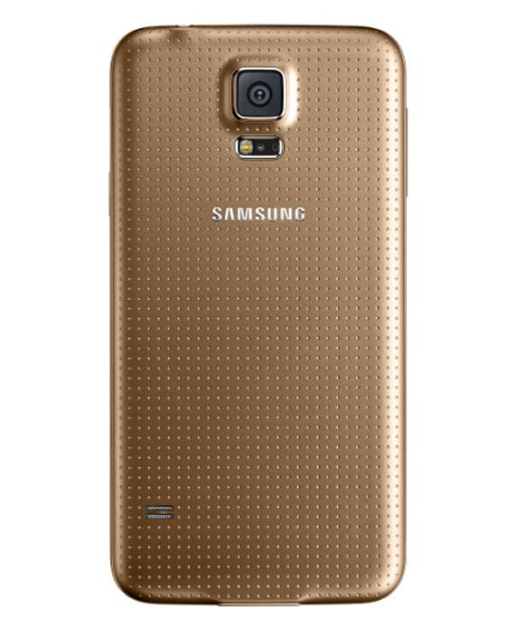 Samsung Galaxy S5 back gold