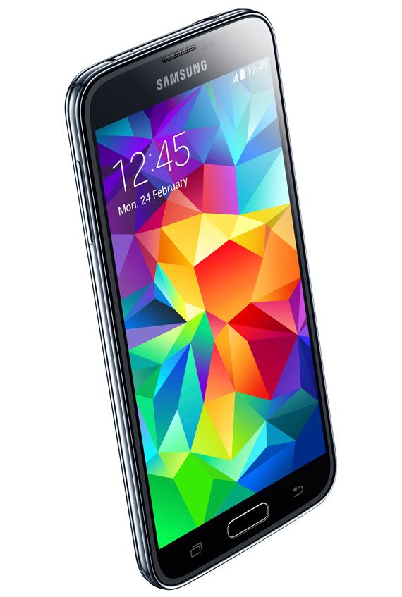 Samsung Galaxy S5 black angle