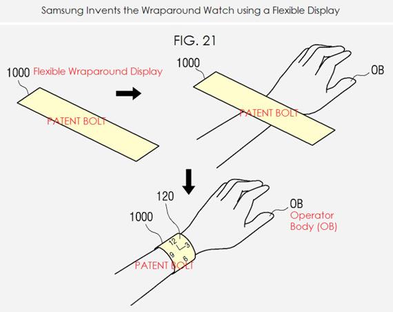 Samsung flex patent