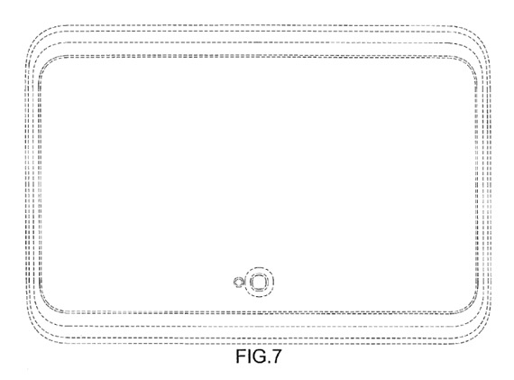 Samsung tablet curved margins