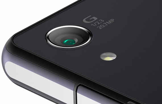 Sony Xperia Z2 camera close-up