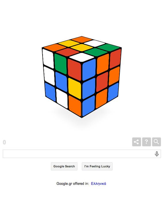 Google celebrates Rubik cube