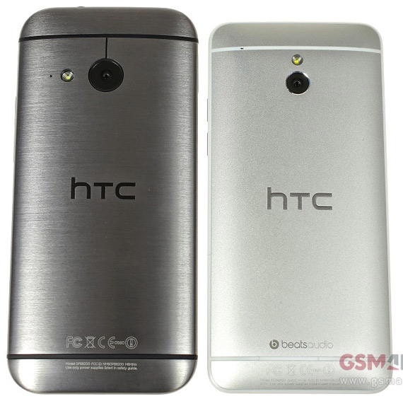 HTC One mini 2 vs One Mini 1 back