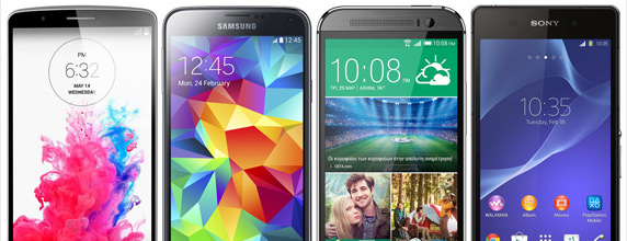 LG G3 vs Galaxy S5 vs One M8 vs Xperia Z2