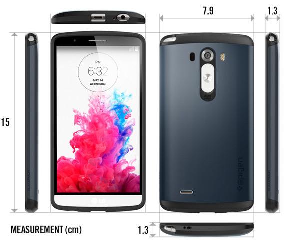 LG G3 dimensions