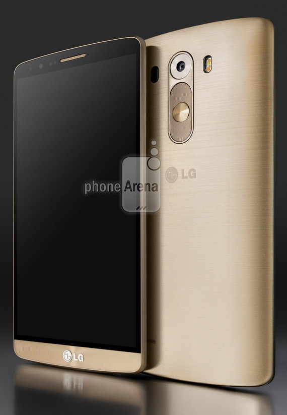 LG G3 press render gold