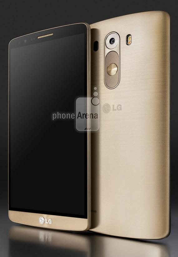 LG G3 press render gold