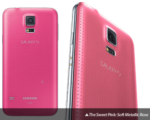 Samsung Galaxy S5 pink japan