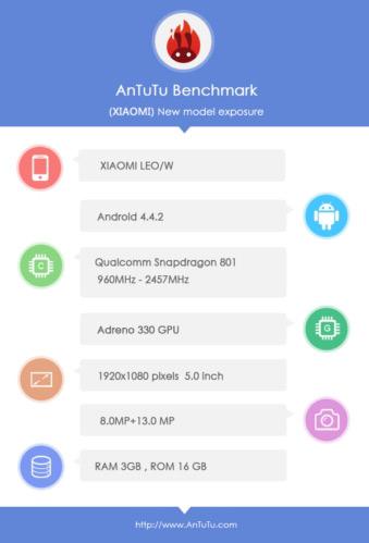 Xiaomi MI3S benchmark leak