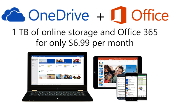 Microsoft, 1TB σε συνδρομητές Office 365, 15GB για χρήστες OneDrive και 70% μείωση τιμών
