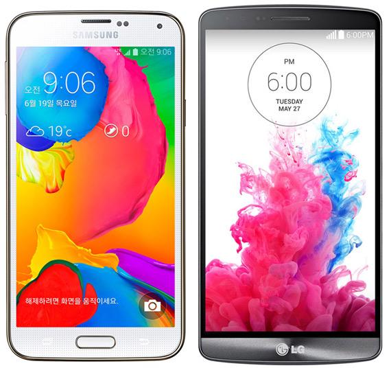 Galaxy S5 LTE-A vs LG-G3