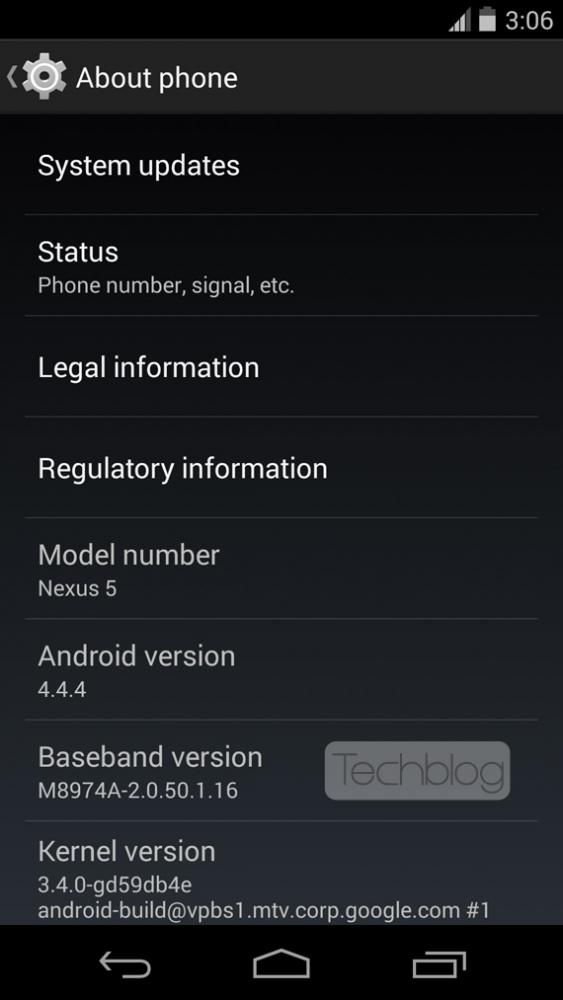 Nexus 5 Android 4.4.4 update