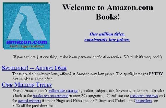Amazon website past