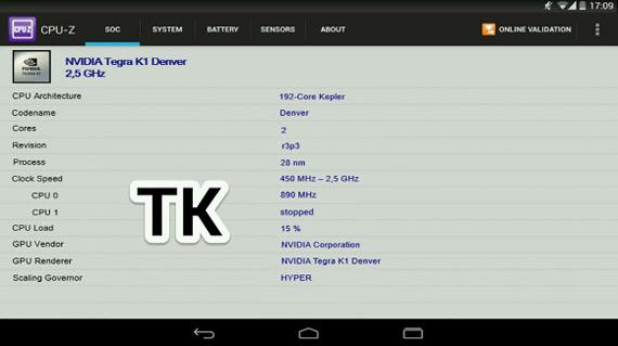 Nexus X 8.9 NVIDIA Tegra K1