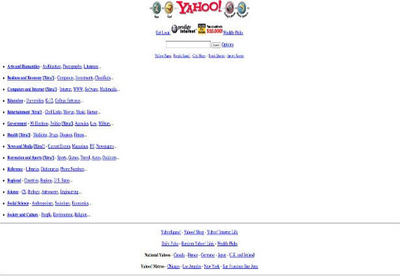 Yahoo website past
