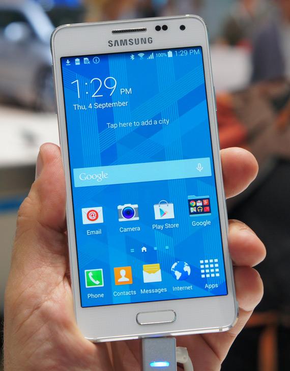 Samsung Galaxy Alpha hands-on IFA 2014