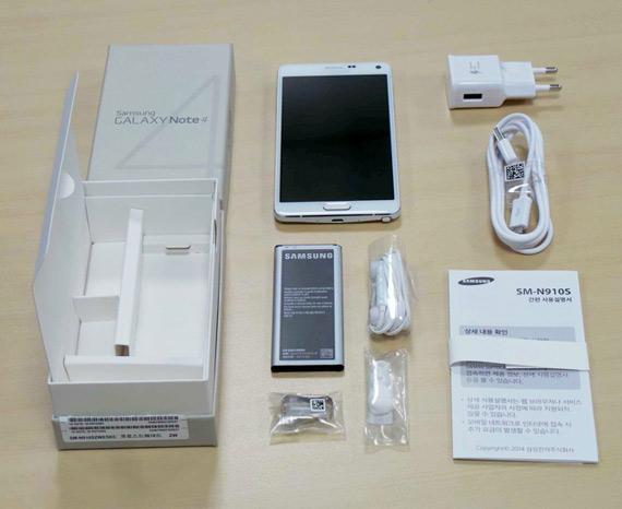 Samsung Galaxy Note 4 unbox