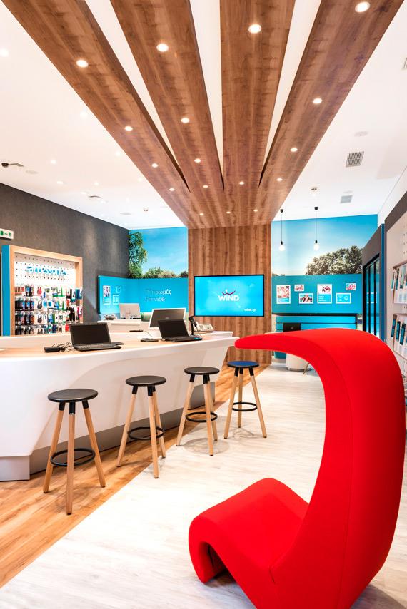 WIND stores new design