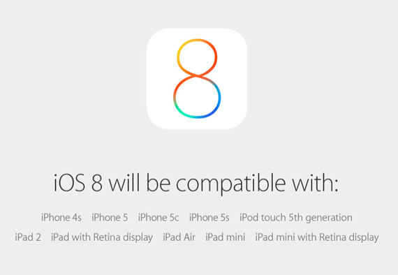iOS 8 available