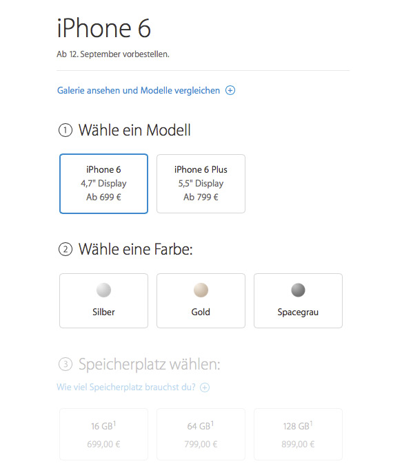iPhone 6 prices Germany