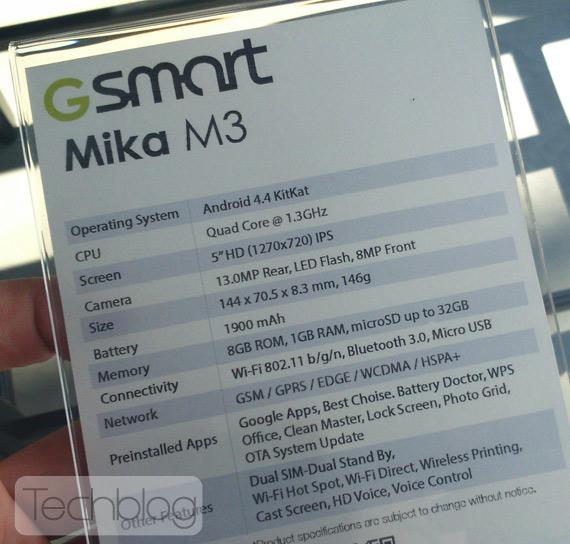 Gigabyte GSmart Mika M3 revealed