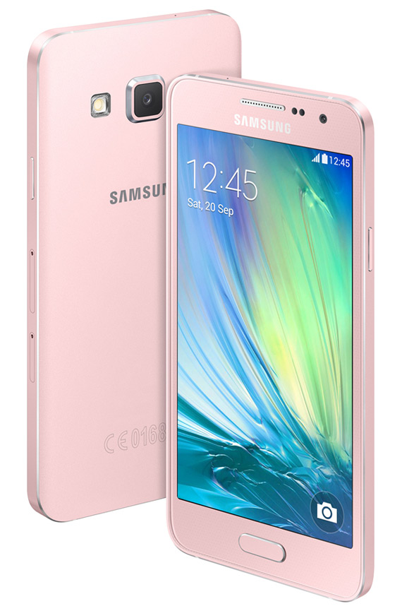 Samsung Galaxy A3 blue revealed
