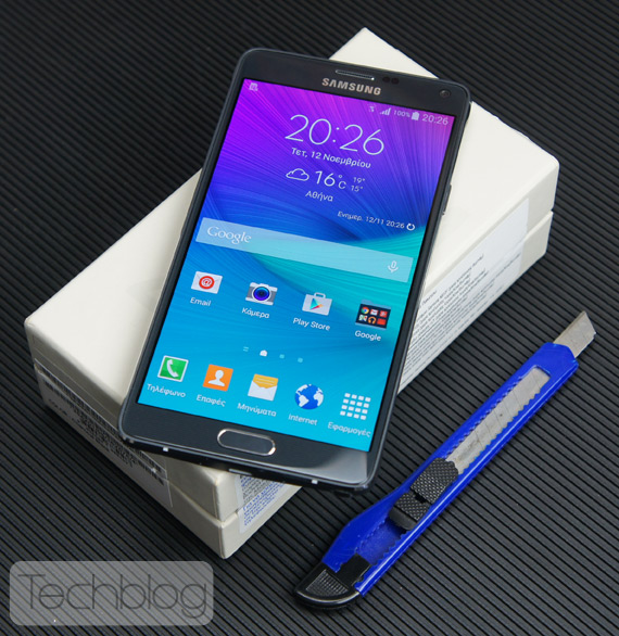 Samsung Galaxy Note 4 unboxing TechblogTV