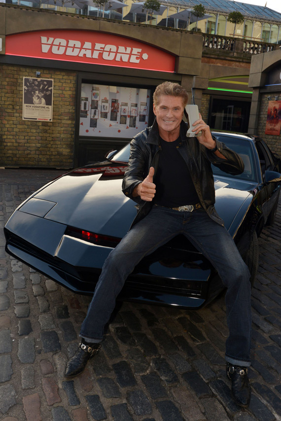 David Hasselhoff KITT launch Vodafone 1984G Street