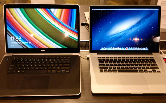 Dell Precision M3800 and MacBook Pro Retina