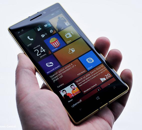 Gold Lumia 930 hero