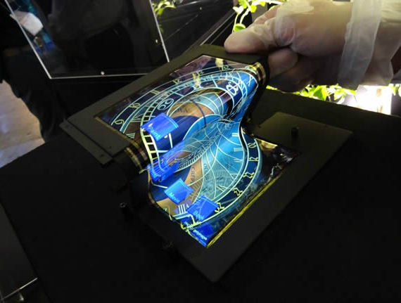 LG flexible OLED displays