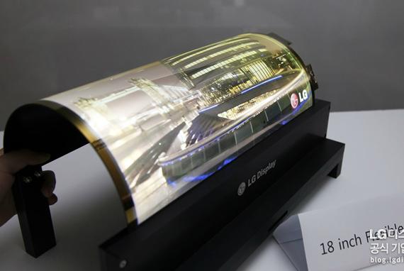 LG flexible OLED displays