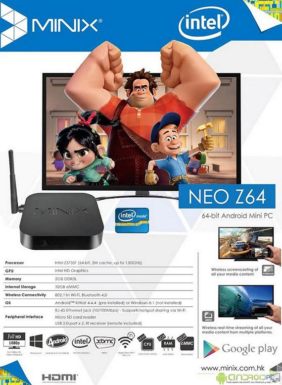 Minix Neo Z64 mini PC