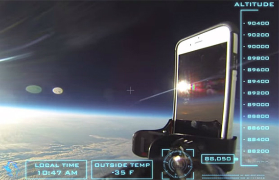 iphone 6 drop test space