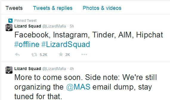 lizard squad tweet